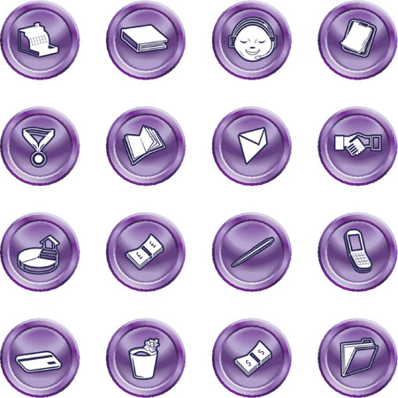 Business and office icons. A series set of office and business icons Vector