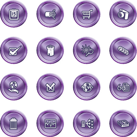 Computer and Web Icons. A set of computer and web icons Stock Vector - 1279866