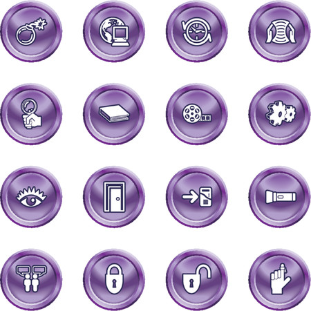 Computer and Internet Icons. A set of computer and internet icons Stock Vector - 1279868