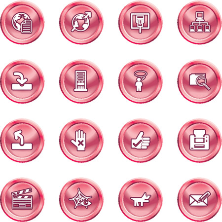 Website and Internet Icons. A set of shiny Website and Internet Icons Vector