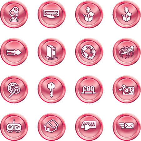 Computing and Website Icons. A set of shiny Computing and Website Icons Stock Vector - 1280174