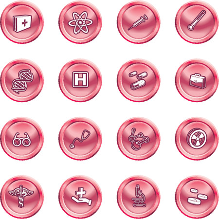 Medical and scientific icons. A set of icons related to medicine and science Stock Vector - 1280176