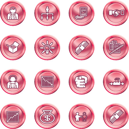 Business web icon set. icons or design elements relating to business Vector