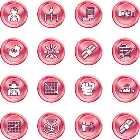 expenses: Negocios web icono conjunto. iconos o elementos de dise�o relativas a las empresas