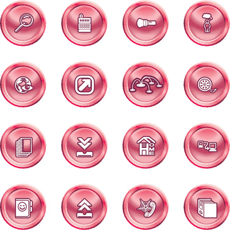 Computing and Website Icons. A set of shiny Computing and Website Icons Vector