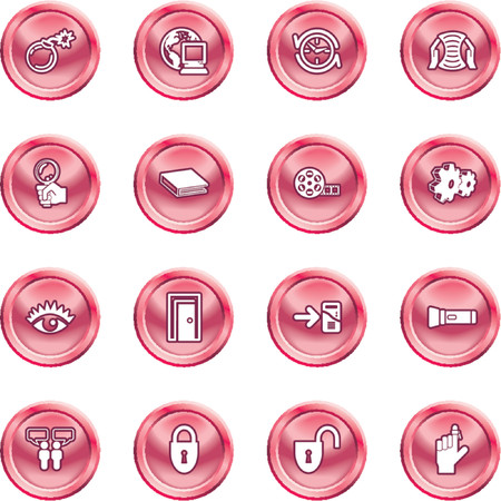 Computer and Internet Icons. A set of computer and internet icons Stock Vector - 1280204