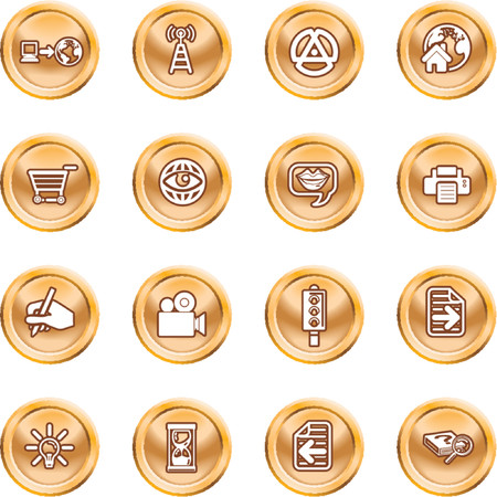 Internet And Computing Media Icons. A set of internet and computing media icons Stock Vector - 1326390