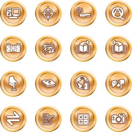 Internet or Computing Icon Set. Internet or Computing Icon Set.  No meshes used Vector