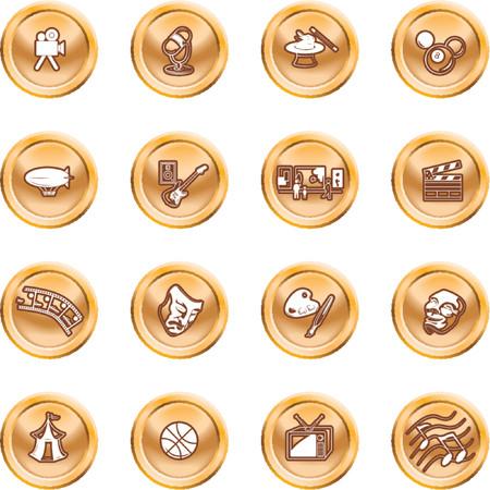 blimp: Aficiones y entretenimiento icono conjunto. Iconos relacionados con el entretenimiento y aficiones y pasatiempos