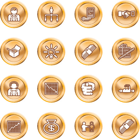 yearly: Business web icon set. icons or design elements relating to business
