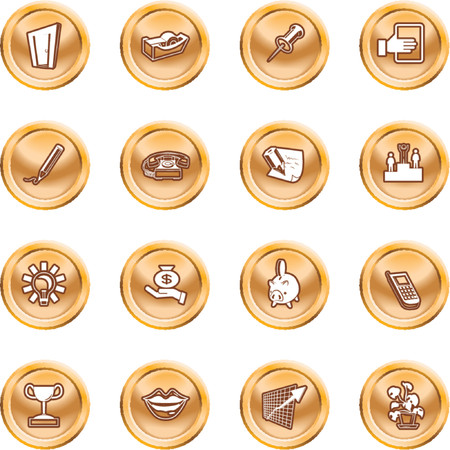 Business and office icons. A series set of office and business icons Stock Vector - 1372701