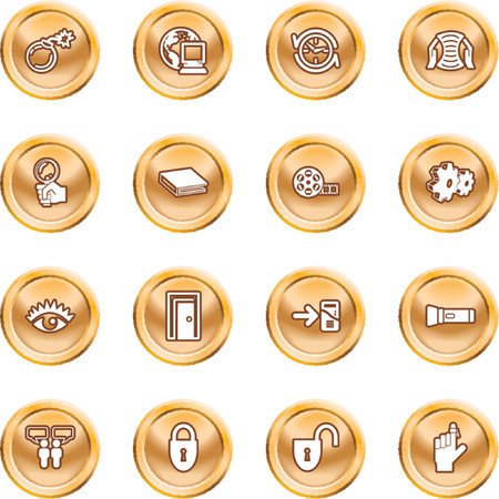 Computer and Internet Icons. A set of computer and internet icons Stock Vector - 1372698