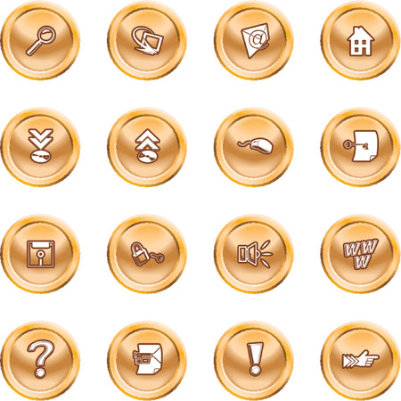 Computer and Internet Icons. A set of computer and internet icons Stock Vector - 1372692