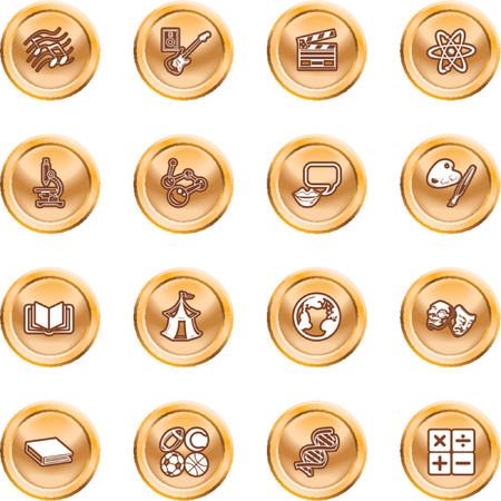 educacion fisica: Acad�mico objeto de estudio iconos. Un icono de la categor�a tem�tica establecidos, por ejemplo. la ciencia, matem�ticas, lengua, literatura, historia, geograf�a, m�sica, educaci�n f�sica, etc