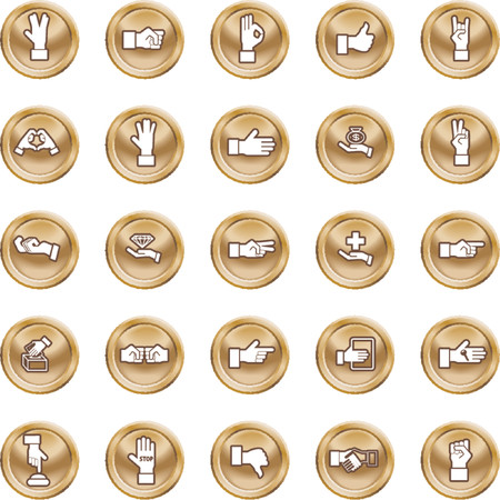 thumbs up group: Shiny Hands Icon set. A set of lots of shiny hand icons.
