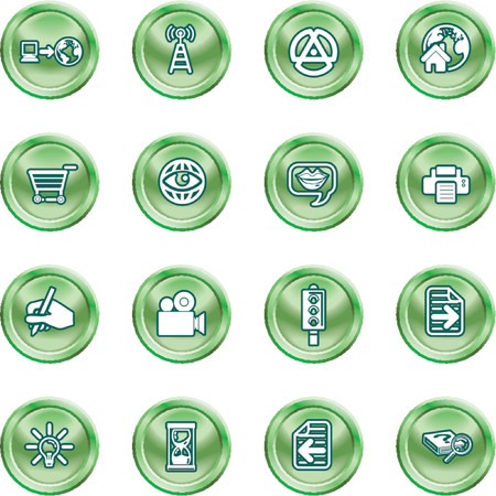 Internet And Computing Media Icons. A set of internet and computing media icons Vector