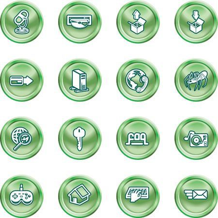 Computing and Website Icons. A set of shiny Computing and Website Icons Stock Vector - 1390690