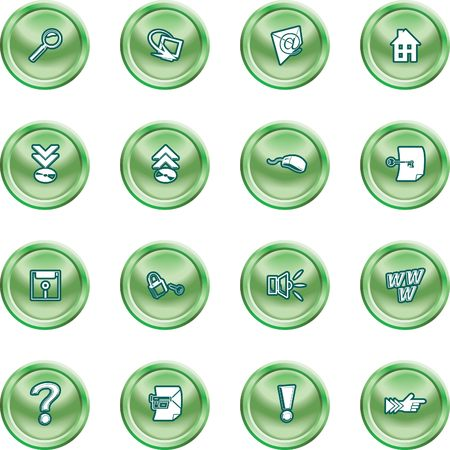 Computer and Internet Icons. A set of computer and internet icons Vector