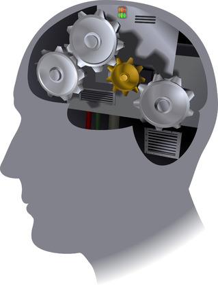 integral: Cog Cerebro, El trabajo del cerebro  Vectores