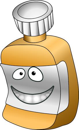 pill bottle: Pill bottle. A vector illustration of an anthropomorphic pill  vitamin bottle