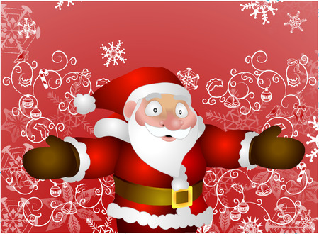 Father Christmas. A vector illustration of Santa with background Vector