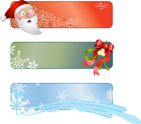 Christmas banners. Illustration of a set of three Christmas banners Stock Vector - 1629167
