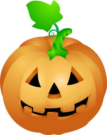 sculpted: Halloween-pompoen. een illustratie van een Halloween-pompoen met een gezicht gebeeldhouwde in Stock Illustratie