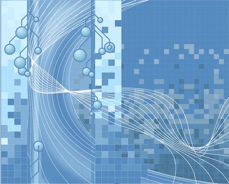 Blue Technology Background. A blue vector corporate style technology background Vector