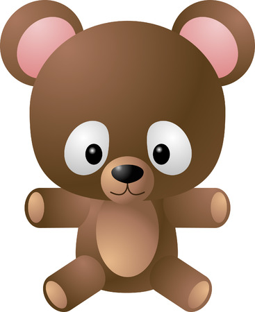 teddy bear vector: Teddy bear. A vector illustration of a cute cartoony teddy bear