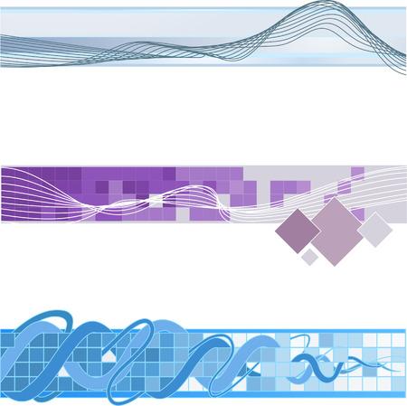 Website banner backgrounds. Three vector corporate technology site website banner backgrounds Stock Vector - 1767587