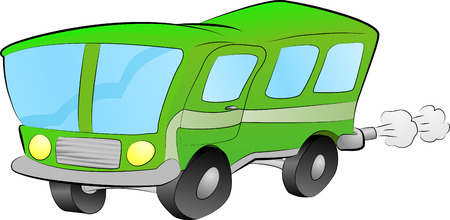 bus illustration. An illustration of a funky green bus Vector