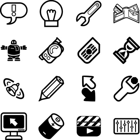 ringing: Applications Icon series set. A vector icon set relating to computer applications Illustration