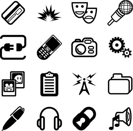 Network and computing Icon Series. A vector Network and computing Icon Series Vector