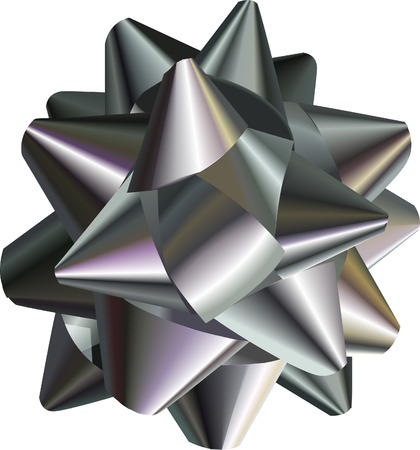 Silver Bow. A vector illustration of a pretty silver bow, no meshes used Illustration