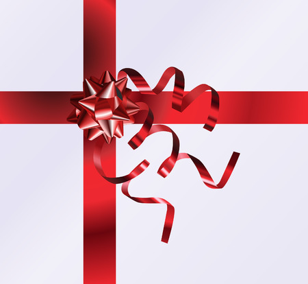 Gift Top View. An illustration of a nicely wrapped gift form the top, no meshes used Vector