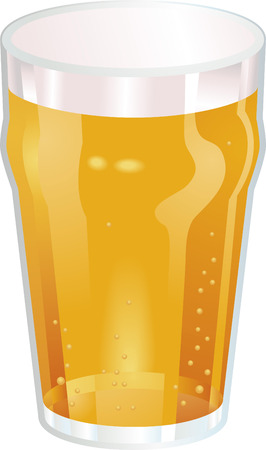 beer pint: A Vector illustration of a Nice Pint of Beer Illustration