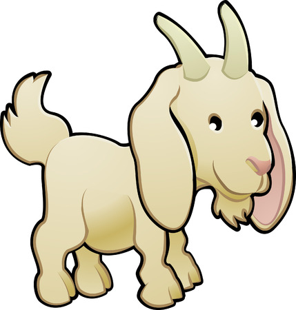 A cute goat farm animal vector illustration Stock Vector - 2909563