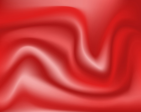 An abstract vector red silk or satin sheet background Vector