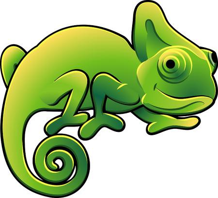 chameleon lizard: Una illustrazione vettoriale di un camaleonte cute lucertola  Vettoriali