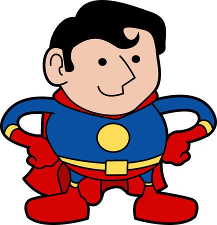 Illustration of male superhero in super hero costume Stock Vector - 3622758