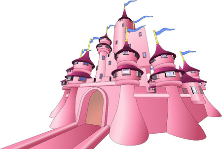 magnificent: Illustration of pink fairy castle  Illustration
