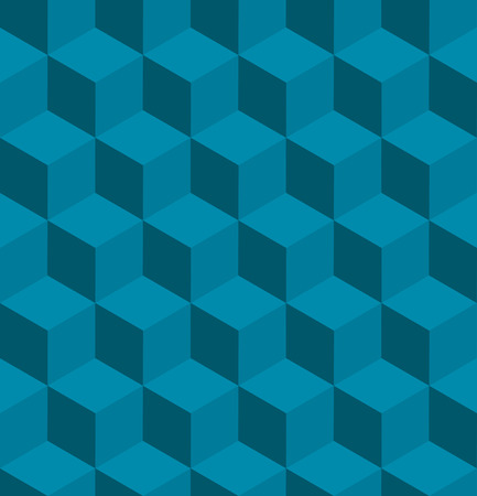 cubic: A seamless tilable blue isometric cube pattern. Designed to look at its best when tiled