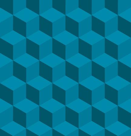 tilable: Una perfetta tilable blu modello isometrico cubo. Progettato per guardare al suo meglio quando piastrelle