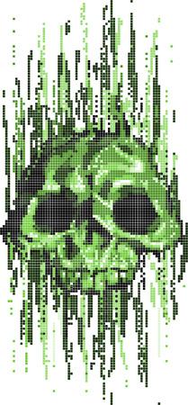 hackers: computer virus skull concept vector illustration
