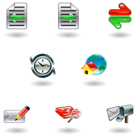 A set of shiny internet browser icons  Vector