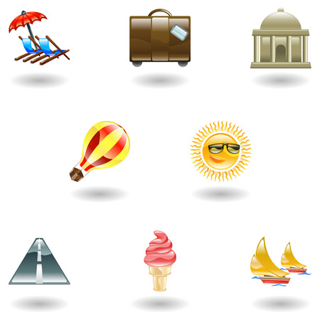 A travel and tourism web icon set