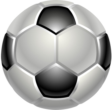 A shiny glossy football or soccer ball icon Vector