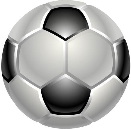 footbal: A shiny glossy football or soccer ball icon