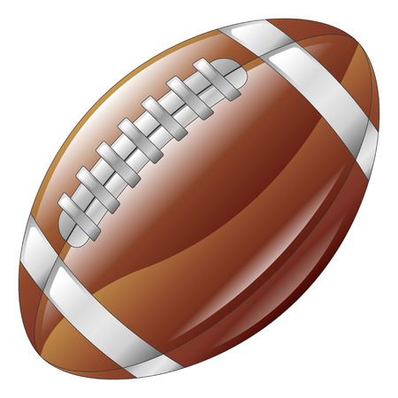 nfl: A shiny glossy american football ball icon