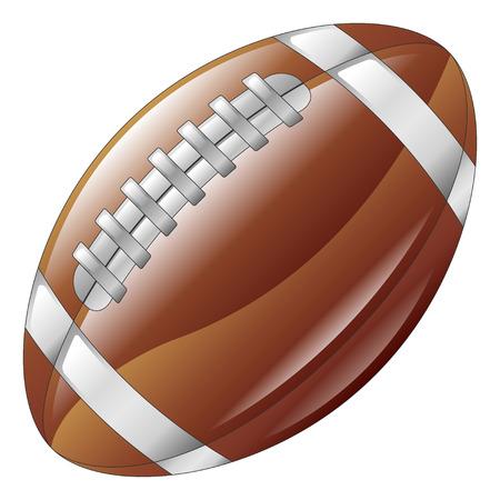 A shiny glossy american football ball icon Stock Vector - 4814160